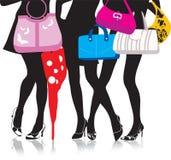 Piernas con los bolsos libre illustration