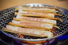 Piernas de cangrejo de la barbacoa foto de archivo libre de regalías