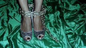 Piernas de la mujer de Bondaged Imágenes de archivo libres de regalías