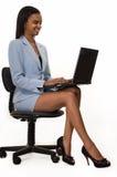 Piernas de la mujer de negocios Imágenes de archivo libres de regalías