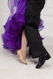 Piernas de los bailarines Fotografía de archivo