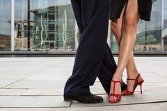 Piernas de los pares del baile Imagen de archivo libre de regalías