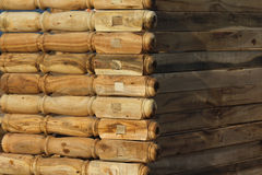 Piernas de madera foto de archivo