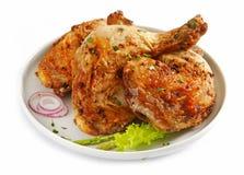 Piernas de pollo asadas a la parilla Fotografía de archivo libre de regalías