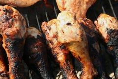 Piernas de pollo asadas a la parilla Fotos de archivo