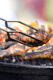 Piernas de pollo asadas a la parilla Imagenes de archivo