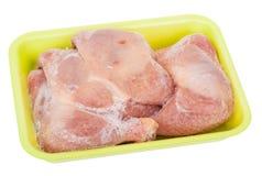 Piernas de pollo congeladas Imagen de archivo libre de regalías