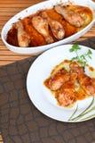 Piernas de pollo de Teriyaki Fotos de archivo