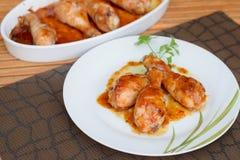 Piernas de pollo de Teriyaki Foto de archivo libre de regalías