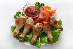 Piernas de pollo frito Fotografía de archivo