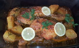 Piernas de pollo frito Fotografía de archivo libre de regalías