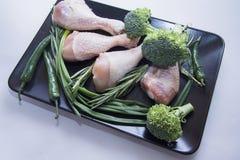 Piernas de pollo para el Bbq Imagenes de archivo