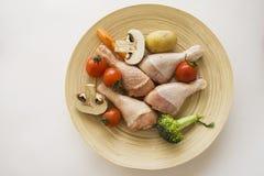 Piernas de pollo para el Bbq desde arriba Fotografía de archivo libre de regalías