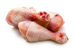 Piernas de pollo sin procesar Fotos de archivo