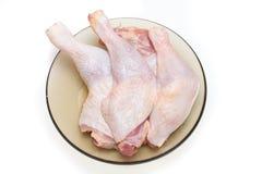 Piernas de pollo sin procesar Imagenes de archivo