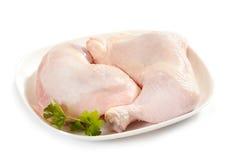 Piernas de pollo sin procesar frescas Imagen de archivo