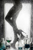 Piernas de una muchacha desnuda hermosa Foto de archivo libre de regalías