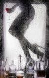 Piernas de una muchacha desnuda hermosa Foto de archivo