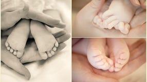 Piernas del bebé Foto de archivo libre de regalías