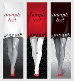 Piernas femeninas en zapatos rojos, un vestido como fondo para el texto ilustración del vector