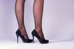 Piernas para mujer delgadas Fotografía de archivo