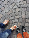 Piernas y pies Foto de archivo
