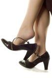 Piernas y zapatos Foto de archivo libre de regalías