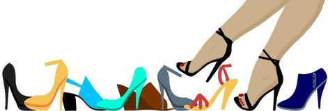 Piernas y zapatos stock de ilustración