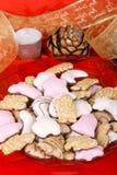 piernikowi bożych narodzeń asortowani ciastka Zdjęcie Stock