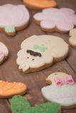 Piernikowi ciastka, śmieszny śliczny charakter Obrazy Royalty Free
