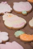 Piernikowi ciastka, śmieszny śliczny charakter Obrazy Stock