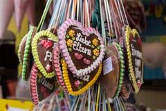 Piernikowi serca przy Theresienwiese w Monachium, Niemcy, 2015 Fotografia Royalty Free