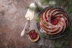 Piernikowy Bundt tort zdjęcie royalty free