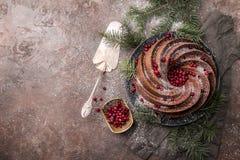 Piernikowy Bundt tort Obraz Royalty Free