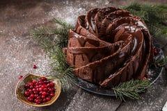 Piernikowy Bundt tort zdjęcie stock