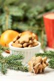 Piernikowy ciastko Newyear Fragrant tangerines prezent Zdjęcie Stock