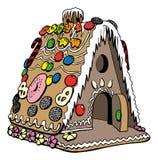 piernikowy dom ilustracji