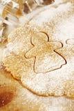 Piernikowy dziewczyny ciastka krajacz od piernikowy zdjęcia stock