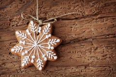 piernikowy płatek śniegu Obrazy Stock