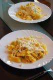 Pierożek wypełniał z szpinakiem i ricotta, Włoski jajeczny makaron Fotografia Royalty Free
