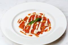 Pierożek z pomidorowym kumberlandem obrazy royalty free