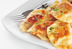 Pierogi (dumplings) Stock Photos