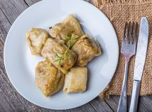 Pierogi (dumplings with sauerkraut and mushrooms) Royalty Free Stock Image