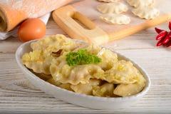 Pierogi.Polish πιάτο Στοκ φωτογραφία με δικαίωμα ελεύθερης χρήσης
