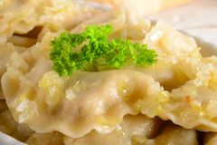 Pierogi.Polish  dish Stock Photo