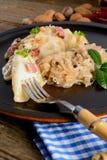 Pierogi.Polish  dish Stock Photography
