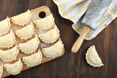 Pierogi with potato and cheddar Royalty Free Stock Photography