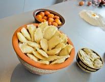 Pierogi - Ukrainian cuisine. Cuisine Ukraine, soon the holiday dinner stock image