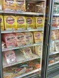 Pierogies dans l'épicerie Photographie stock libre de droits