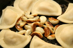 Pierogies And Garlic Royalty Free Stock Image